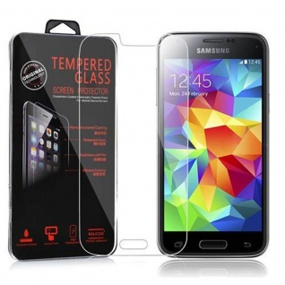Cadorabo Panzer Folie für Samsung Galaxy S5 MINI / S5 MINI DUOS - Schutzfolie in KRISTALL KLAR - Gehärtetes (Tempered) Display-Schutzglas in 9H Härte mit 3D Touch Kompatibilität