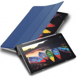 """Cadorabo Tablet Hülle für Lenovo Tab 3 10 Business (10, 1"""" Zoll) in JERSEY DUNKEL BLAU Ultra Dünne Book Style Schutzhülle mit Auto Wake Up und Standfunktion aus Kunstleder"""
