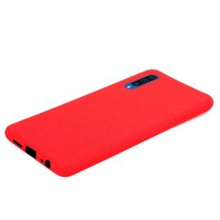 Cadorabo Hülle für Samsung Galaxy A50 in FROST ROT - Handyhülle aus flexiblem TPU Silikon - Silikonhülle Schutzhülle Ultra Slim Soft Back Cover Case Bumper - Vorschau 5