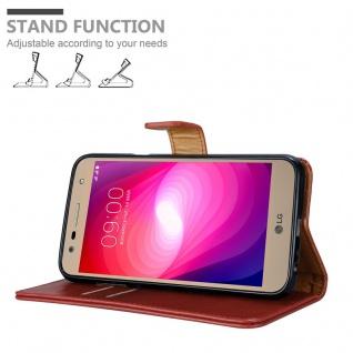 Cadorabo Hülle für LG X Power 2 in WEIN ROT - Handyhülle mit Magnetverschluss, Standfunktion und Kartenfach - Case Cover Schutzhülle Etui Tasche Book Klapp Style - Vorschau 4