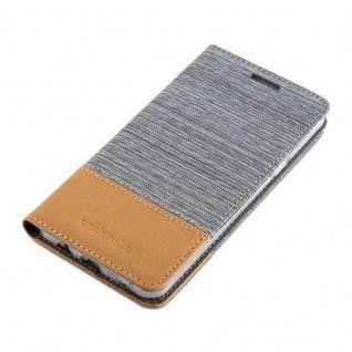 Cadorabo Hülle für Samsung Galaxy A5 2016 in HELL GRAU BRAUN - Handyhülle mit Magnetverschluss, Standfunktion und Kartenfach - Case Cover Schutzhülle Etui Tasche Book Klapp Style - Vorschau 3