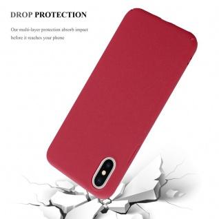 Cadorabo Hülle für Apple iPhone X / XS in FROSTY ROT - Hardcase Handyhülle aus Plastik gegen Kratzer und Stöße - Schutzhülle Bumper Ultra Slim Back Case Hard Cover - Vorschau 4