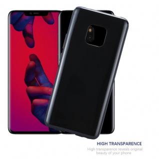 Cadorabo Hülle für Huawei MATE 20 PRO in SCHWARZ - Handyhülle aus flexiblem TPU Silikon - Silikonhülle Schutzhülle Ultra Slim Soft Back Cover Case Bumper - Vorschau 5