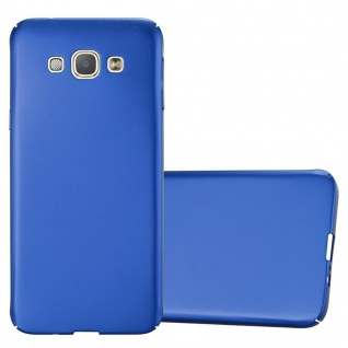 Cadorabo Hülle für Samsung Galaxy A8 2015 in METALL BLAU Hardcase Handyhülle aus Plastik gegen Kratzer und Stöße Schutzhülle Bumper Ultra Slim Back Case Hard Cover
