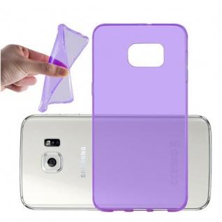 Cadorabo Hülle für Samsung Galaxy S6 EDGE PLUS - Hülle in TRANSPARENT LILA ? Handyhülle aus TPU Silikon im Ultra Slim 'AIR' Design - Ultra Slim Soft Backcover Case Bumper