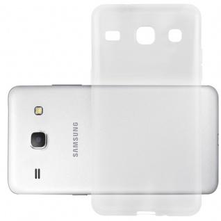 Cadorabo Hülle für Samsung Galaxy CORE in VOLL TRANSPARENT - Handyhülle aus flexiblem TPU Silikon - Silikonhülle Schutzhülle Ultra Slim Soft Back Cover Case Bumper