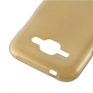 Cadorabo Hülle für Samsung Galaxy J1 2015 in GOLD - Handyhülle aus flexiblem TPU Silikon - Silikonhülle Schutzhülle Ultra Slim Soft Back Cover Case Bumper - Vorschau 5