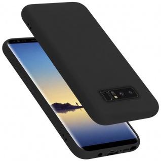 Cadorabo Hülle für Samsung Galaxy NOTE 8 in LIQUID SCHWARZ Handyhülle aus flexiblem TPU Silikon Silikonhülle Schutzhülle Ultra Slim Soft Back Cover Case Bumper