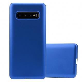 Cadorabo Hülle für Samsung Galaxy S10 PLUS in METALLIC BLAU - Handyhülle aus flexiblem TPU Silikon - Silikonhülle Schutzhülle Ultra Slim Soft Back Cover Case Bumper