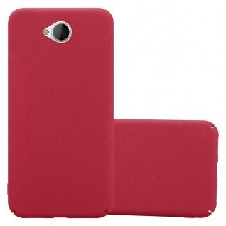Cadorabo Hülle für Nokia Lumia 650 in FROSTY ROT - Hardcase Handyhülle aus Plastik gegen Kratzer und Stöße - Schutzhülle Bumper Ultra Slim Back Case Hard Cover