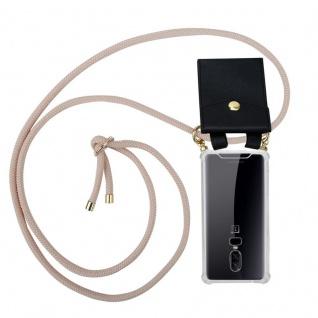 Cadorabo Handy Kette für OnePlus 6 in PERLIG ROSÉGOLD Silikon Necklace Umhänge Hülle mit Gold Ringen, Kordel Band Schnur und abnehmbarem Etui Schutzhülle
