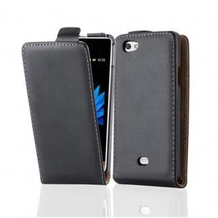 Cadorabo Hülle für Sony Xperia MIRO in KAVIAR SCHWARZ - Handyhülle im Flip Design aus glattem Kunstleder - Case Cover Schutzhülle Etui Tasche Book Klapp Style