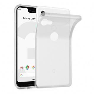Cadorabo Hülle für Google Pixel 3 XL in VOLL TRANSPARENT - Handyhülle aus flexiblem TPU Silikon - Silikonhülle Schutzhülle Ultra Slim Soft Back Cover Case Bumper
