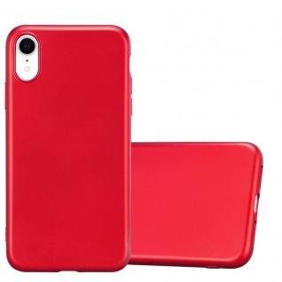 Cadorabo Hülle für Apple iPhone XR in METALLIC ROT - Handyhülle aus flexiblem TPU Silikon - Silikonhülle Schutzhülle Ultra Slim Soft Back Cover Case Bumper