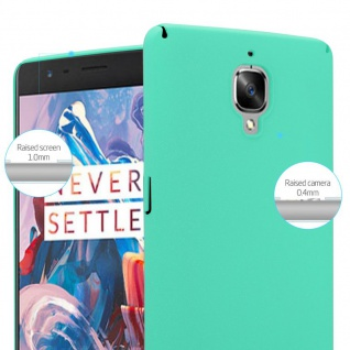Cadorabo Hülle für OnePlus 3 / 3T in FROSTY GRÜN - Hardcase Handyhülle aus Plastik gegen Kratzer und Stöße - Schutzhülle Bumper Ultra Slim Back Case Hard Cover - Vorschau 4