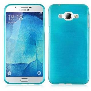 Cadorabo Hülle für Samsung Galaxy A8 2015 in TÜRKIS - Handyhülle aus flexiblem TPU Silikon - Silikonhülle Schutzhülle Ultra Slim Soft Back Cover Case Bumper