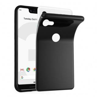 Cadorabo Hülle für Google Pixel 3 in SCHWARZ - Handyhülle aus flexiblem TPU Silikon - Silikonhülle Schutzhülle Ultra Slim Soft Back Cover Case Bumper