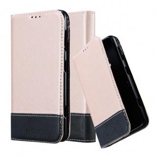Cadorabo Hülle für Nokia Lumia 625 in ROSÉ GOLD SCHWARZ ? Handyhülle mit Magnetverschluss, Standfunktion und Kartenfach ? Case Cover Schutzhülle Etui Tasche Book Klapp Style