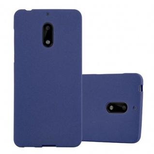 Cadorabo Hülle für Nokia 6 2017 in FROST DUNKEL BLAU - Handyhülle aus flexiblem TPU Silikon - Silikonhülle Schutzhülle Ultra Slim Soft Back Cover Case Bumper
