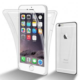 Cadorabo Hülle kompatibel mit Apple iPhone 6 Plus / 6S Plus in TRANSPARENT - 360° Full Body Handyhülle Front und Rückenschutz Rundumschutz Schutzhülle mit Displayschutz