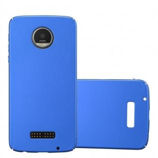 Cadorabo Hülle für Motorola MOTO Z PLAY in METALL BLAU - Hardcase Handyhülle aus Plastik gegen Kratzer und Stöße - Schutzhülle Bumper Ultra Slim Back Case Hard Cover