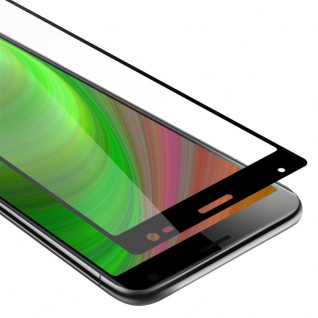 Cadorabo Vollbild Panzer Folie für Sony Xperia 10 PLUS Schutzfolie in TRANSPARENT mit SCHWARZ Gehärtetes (Tempered) Display-Schutzglas in 9H Härte mit 3D Touch Kompatibilität