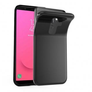 Cadorabo Hülle für Samsung Galaxy J8 2018 in SCHWARZ - Handyhülle aus flexiblem TPU Silikon - Silikonhülle Schutzhülle Ultra Slim Soft Back Cover Case Bumper