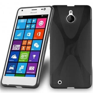 Cadorabo Hülle für Nokia Lumia 850 in OXID SCHWARZ ? Handyhülle aus flexiblem TPU Silikon ? Silikonhülle Schutzhülle Ultra Slim Soft Back Cover Case Bumper