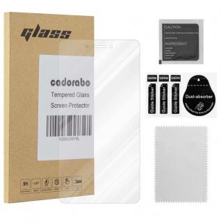 Cadorabo Panzerglas für Lenovo K6 NOTE - Schutzfolie in KRISTALL KLAR ? Gehärtetes (Tempered) Display-Schutzglas in 9H Härte mit 3D Touch Kompatibilität