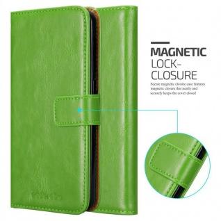 Cadorabo Hülle für HTC Desire 10 Lifestyle / Desire 825 in GRAS GRÜN - Handyhülle mit Magnetverschluss, Standfunktion und Kartenfach - Case Cover Schutzhülle Etui Tasche Book Klapp Style - Vorschau 2
