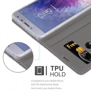 Cadorabo Hülle für Samsung Galaxy J4 2018 in HELL GRAU BRAUN - Handyhülle mit Magnetverschluss, Standfunktion und Kartenfach - Case Cover Schutzhülle Etui Tasche Book Klapp Style - Vorschau 2