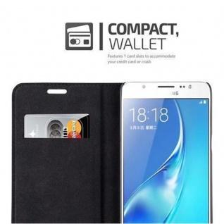 Cadorabo Hülle für Samsung Galaxy J5 2016 in PETROL TÜRKIS - Handyhülle mit Magnetverschluss, Standfunktion und Kartenfach - Case Cover Schutzhülle Etui Tasche Book Klapp Style - Vorschau 3