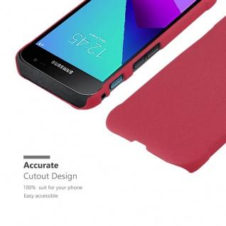 Cadorabo Hülle für Samsung Galaxy XCover 4 in FROSTY ROT - Hardcase Handyhülle aus Plastik gegen Kratzer und Stöße - Schutzhülle Bumper Ultra Slim Back Case Hard Cover - Vorschau 5