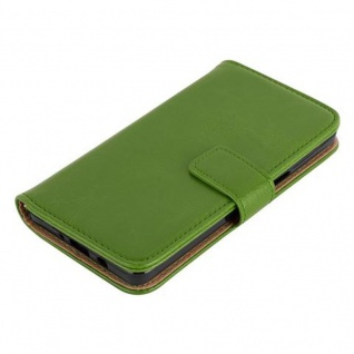 Cadorabo Hülle für Samsung Galaxy A5 2015 in GRAS GRÜN - Handyhülle mit Magnetverschluss, Standfunktion und Kartenfach - Case Cover Schutzhülle Etui Tasche Book Klapp Style - Vorschau 3