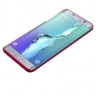 Cadorabo Hülle für Samsung Galaxy S6 EDGE PLUS in METALL ROT - Hardcase Handyhülle aus Plastik gegen Kratzer und Stöße - Schutzhülle Bumper Ultra Slim Back Case Hard Cover - Vorschau 3
