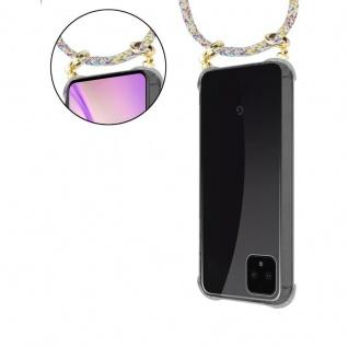 Cadorabo Handy Kette für Google Pixel 4 in RAINBOW - Silikon Necklace Umhänge Hülle mit Gold Ringen, Kordel Band Schnur und abnehmbarem Etui ? Schutzhülle - Vorschau 5