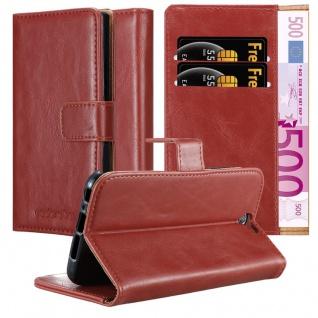 Cadorabo Hülle für HTC One A9 in WEIN ROT ? Handyhülle mit Magnetverschluss, Standfunktion und Kartenfach ? Case Cover Schutzhülle Etui Tasche Book Klapp Style