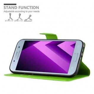 Cadorabo Hülle für Samsung Galaxy A5 2017 in MINZ GRÜN - Handyhülle mit Magnetverschluss, Standfunktion und Kartenfach - Case Cover Schutzhülle Etui Tasche Book Klapp Style - Vorschau 4