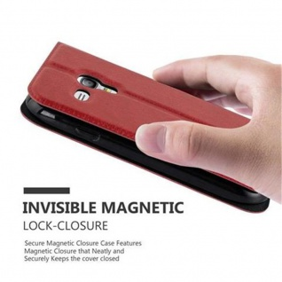 Cadorabo Hülle für Samsung Galaxy S3 MINI in SAFRAN ROT ? Handyhülle mit Magnetverschluss, Standfunktion und 2 Sichtfenstern ? Case Cover Schutzhülle Etui Tasche Book Klapp Style - Vorschau 5