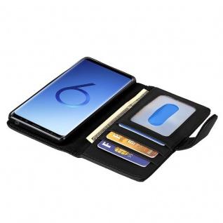 Cadorabo Hülle für Samsung Galaxy S9 in OXID SCHWARZ ? Handyhülle mit Magnetverschluss und 3 Kartenfächern ? Case Cover Schutzhülle Etui Tasche Book Klapp Style - Vorschau 2