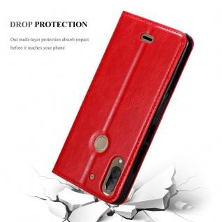 Cadorabo Hülle für WIKO VIEW 2 PLUS in APFEL ROT - Handyhülle mit Magnetverschluss, Standfunktion und Kartenfach - Case Cover Schutzhülle Etui Tasche Book Klapp Style - Vorschau 5