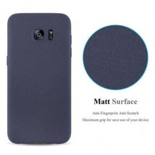 Cadorabo Hülle für Samsung Galaxy S7 EDGE in FROST DUNKEL BLAU - Handyhülle aus flexiblem TPU Silikon - Silikonhülle Schutzhülle Ultra Slim Soft Back Cover Case Bumper - Vorschau 2