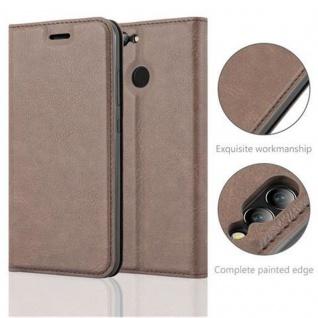 Cadorabo Hülle für Huawei NOVA 2 in KAFFEE BRAUN - Handyhülle mit Magnetverschluss, Standfunktion und Kartenfach - Case Cover Schutzhülle Etui Tasche Book Klapp Style - Vorschau 2