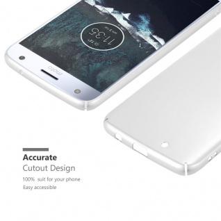 Cadorabo Hülle für Motorola MOTO X4 in METALL SILBER - Hardcase Handyhülle aus Plastik gegen Kratzer und Stöße - Schutzhülle Bumper Ultra Slim Back Case Hard Cover - Vorschau 5