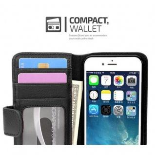 Cadorabo Hülle für Apple iPhone 7 / iPhone 7S / iPhone 8 in OXID SCHWARZ ? Handyhülle mit Magnetverschluss und 3 Kartenfächern ? Case Cover Schutzhülle Etui Tasche Book Klapp Style - Vorschau 3