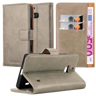 Cadorabo Hülle für Nokia Lumia 929 / 930 in CAPPUCCINO BRAUN - Handyhülle mit Magnetverschluss, Standfunktion und Kartenfach - Case Cover Schutzhülle Etui Tasche Book Klapp Style