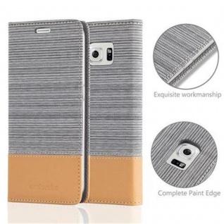 Cadorabo Hülle für Samsung Galaxy S6 in HELL GRAU BRAUN Handyhülle mit Magnetverschluss, Standfunktion und Kartenfach Case Cover Schutzhülle Etui Tasche Book Klapp Style - Vorschau 2