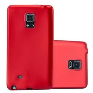Cadorabo Hülle für Samsung Galaxy NOTE EDGE in METALLIC ROT - Handyhülle aus flexiblem TPU Silikon - Silikonhülle Schutzhülle Ultra Slim Soft Back Cover Case Bumper