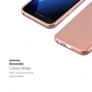 Cadorabo Hülle für Samsung Galaxy A3 2017 in METALLIC ROSE GOLD - Handyhülle aus flexiblem TPU Silikon - Silikonhülle Schutzhülle Ultra Slim Soft Back Cover Case Bumper - Vorschau 2