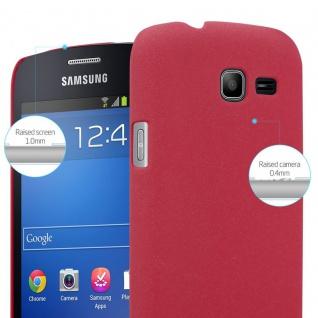 Cadorabo Hülle für Samsung Galaxy TREND LITE in FROSTY ROT - Hardcase Handyhülle aus Plastik gegen Kratzer und Stöße - Schutzhülle Bumper Ultra Slim Back Case Hard Cover - Vorschau 4